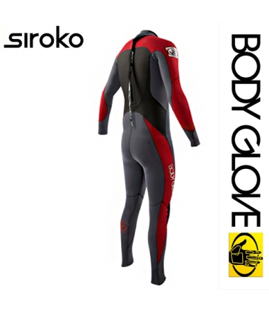 Body Glove 2015 Siroko Bk/Zip 4/3 Fullsuit Red