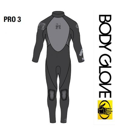 Body Glove 2015 Pro3 3/2 Fullsuit Black/Grey