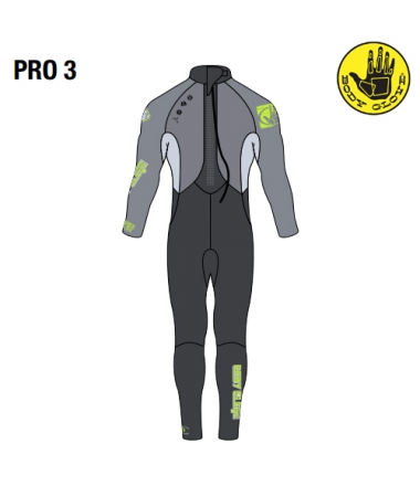 Body Glove 2015 Pro3 3/2 Fullsuit Grey/Lime