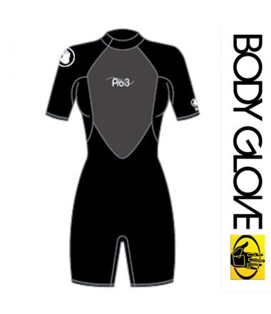Body Glove 2015 Pro3 2/1MM Springsuit Shoty Black