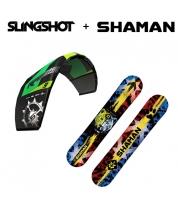 Комплект Кайтсноуборд Shaman + Slingshot RPM