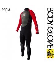 Body Glove 2015 Pro3 3/2 Fullsuit Black/Red